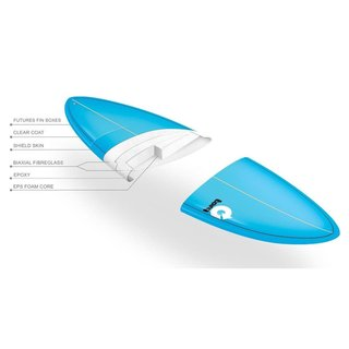 Surfboard TORQ Epoxy TET 6.3 Fish  Weiss
