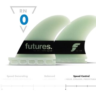 FUTURES Big Wave Quad Fin Set Gerry Lopez 4.00 G10
