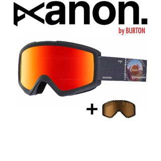 ANON by BURTON Helix 2.0 with Spare Goggle Schneebrille Rush Red Solex / Men