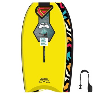 FLOOD Bodyboard Dynamx Stringer 41 Gelb Tribal