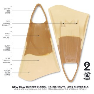 Bodyboard Flossen OPTION  MK2 S 38-39 Nature
