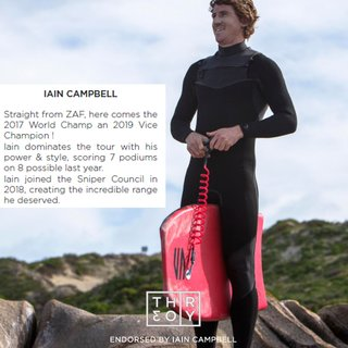 SNIPER Bodyboard Ian Campbell Pro Theory PP 41 Rot