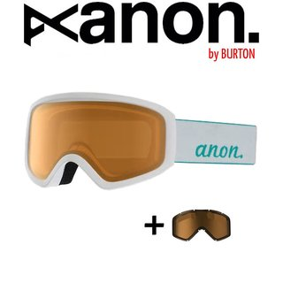 ANON by BURTON Insight with Spare Goggle Schneebrille White Silver Amber / Women