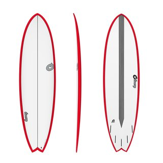 Surfboard TORQ Epoxy TET CS 7.2 Fish Carbon Red