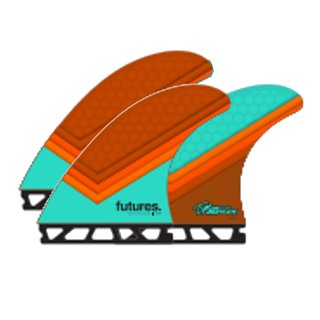 FUTURES Thruster Fin Set Timmy Patterson TP1 L
