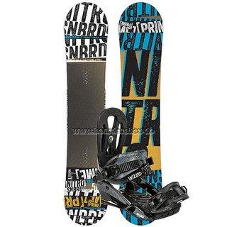 NITRO Snowboard Set PRIME STACKED 155 cm + WIZARD Bindung BLACK L 2015