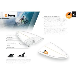 Surfboard TORQ Epoxy TET 7.2 Fish Weiss
